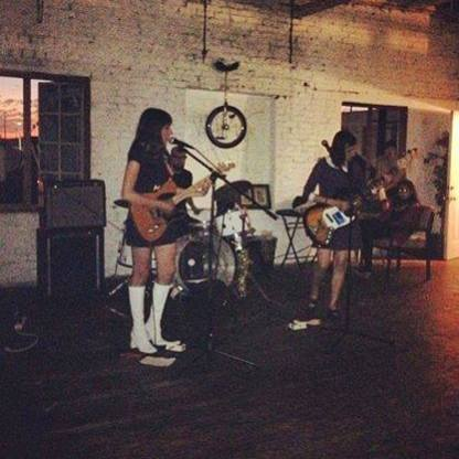 1st formation of Janelane in 2013 with Sophie's sister Gina on bass, and Gina's boyfriend Guy on drums.