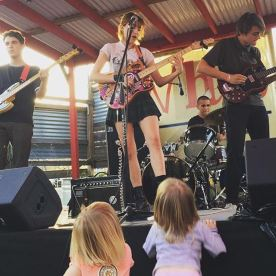 March 2015: Playing at the Whip In to the little kids in Austin, Texas for SXSW.