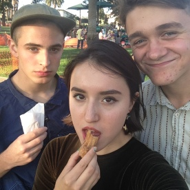 October 2014: Churros purchased with the $3 we made busking for the first time at the Echo Park Lake.