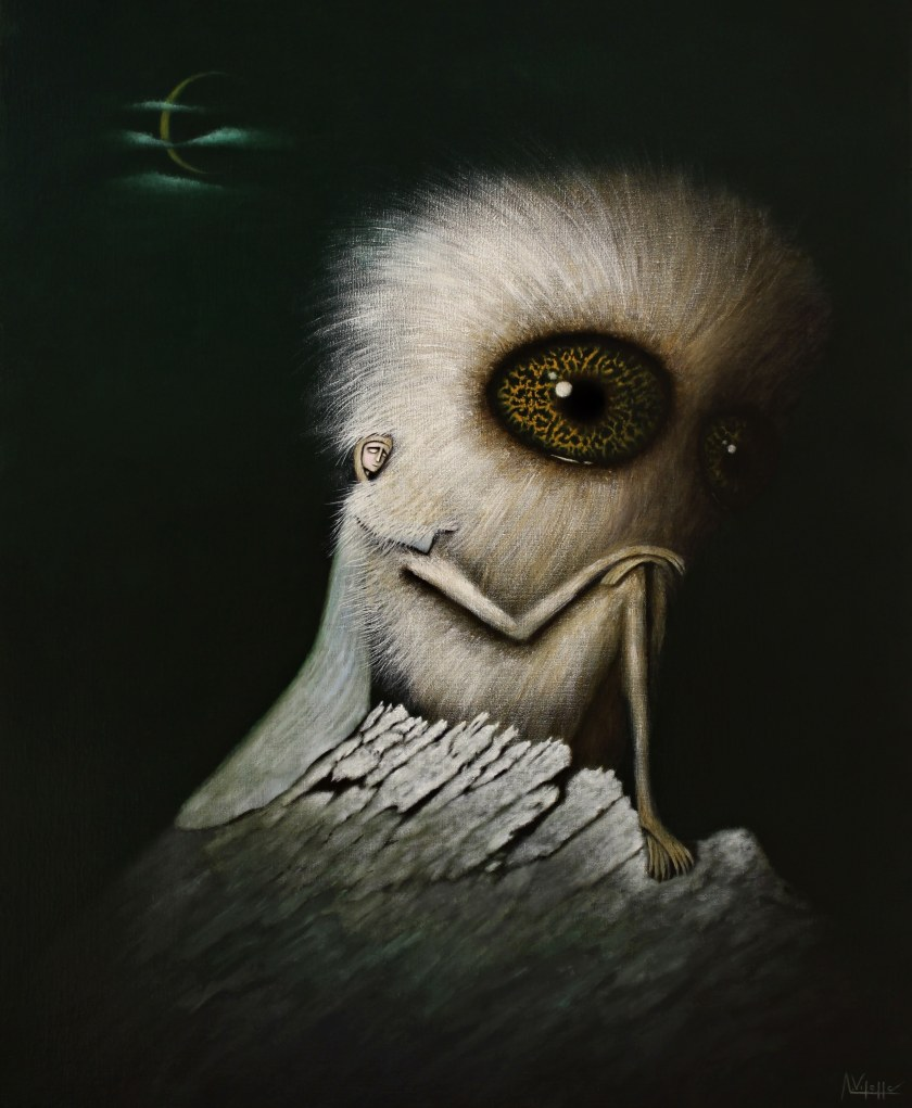10. My favorite monster - Oil on canvas - 100X81cm - August Vilella