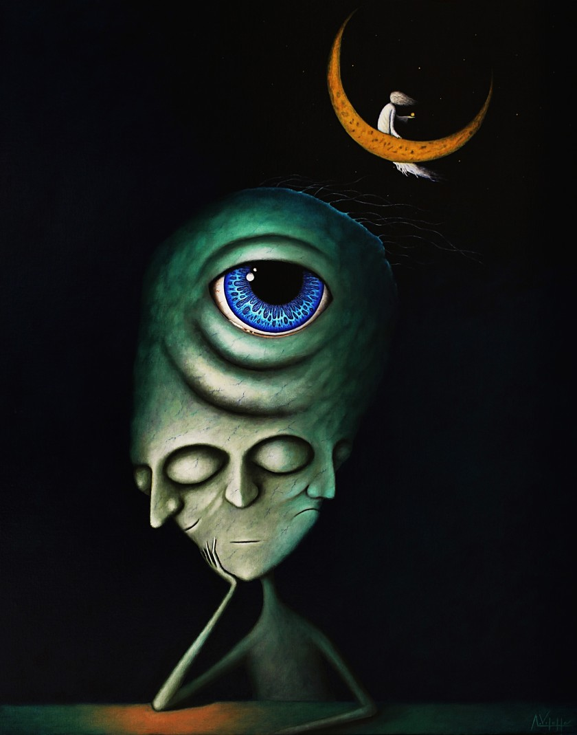 4. Midnight - Oil on canva - 100x81cm - August Vilella