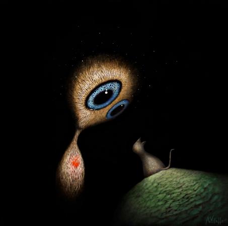 8. Magic Meeting - Oil on canvas - 50x50cm - August Vilella